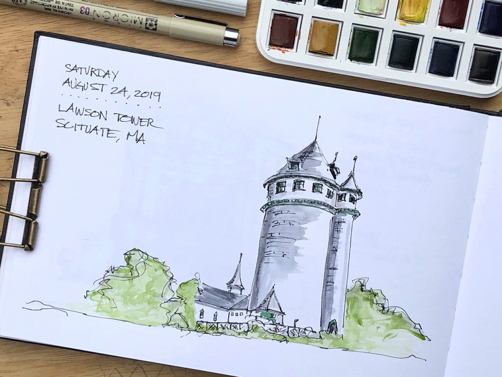 Lessons Learned from 100 Days of Drawing: Sketch of Lawson Tower